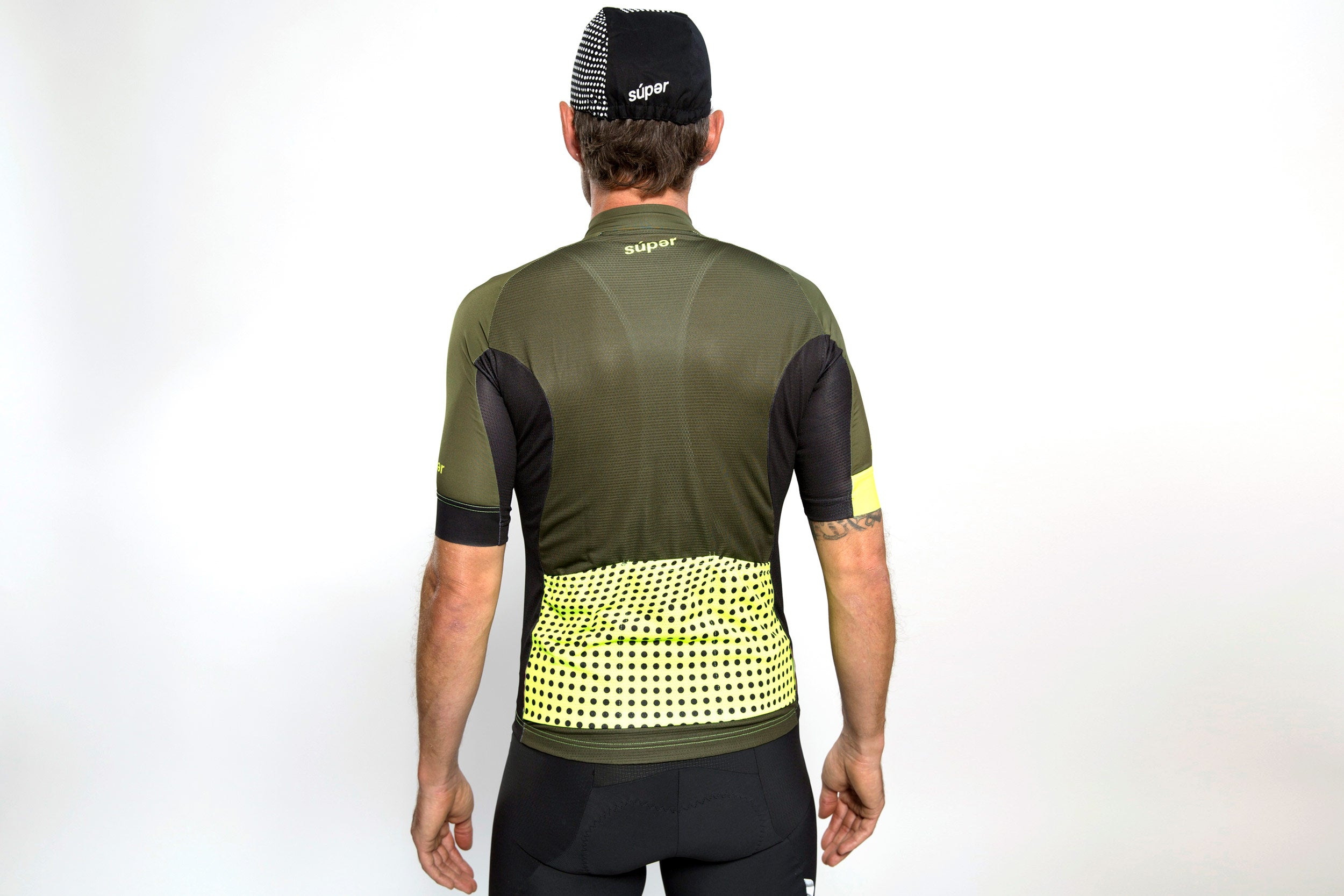 Men's dot-dot-dot Green + Acid jersey