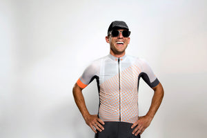 Men's dot-dot-dot Grey + FLUOrange jersey