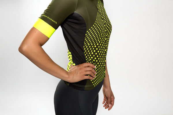 Women's dot-dot-dot Green + Acid jersey