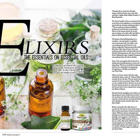 We talk to Modern Hair and Beauty magazine about all things oil and beauty