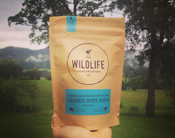 Organic Australian Rainforest Body Scrub - Wildlife Conservation Co