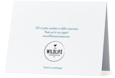 Greeting Card | Printed on 100% Recycled Paper | Helps Endangered Species