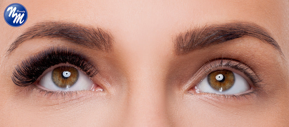thick eyelash extensions thick natural lashes effect