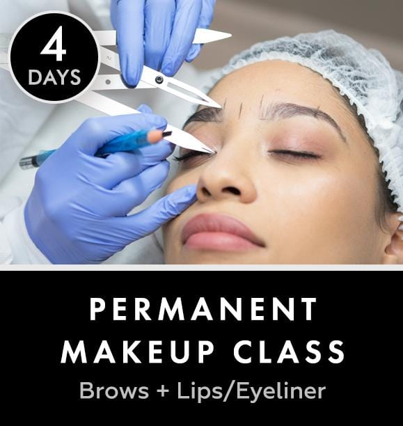 Permanent makeup Class (Brows + Lips/Eyeliner) | 4 days