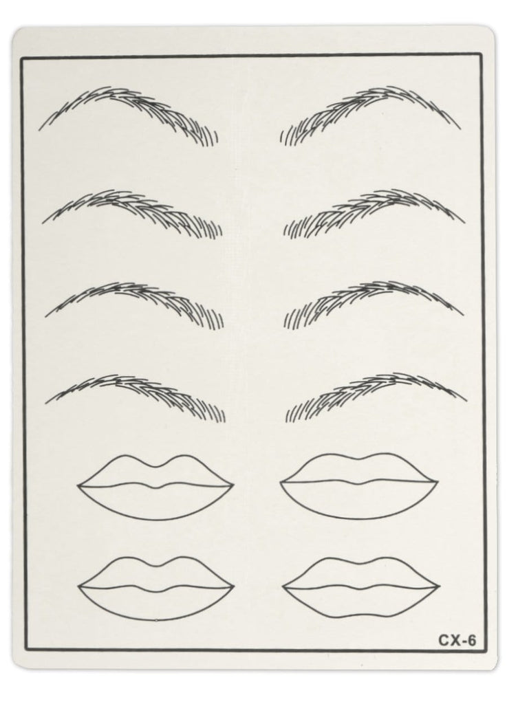 Practice Skin - Shapes of Eyebrows and Lips