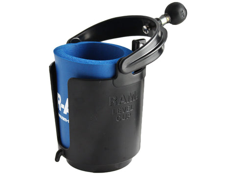 "RAM-B-132BU RAM Self-Leveling Cup Holder with 1"" Ball & Cozy"