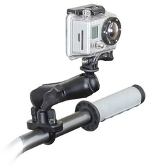 "RAM-B-149Z-GOP1 RAM Handlebar Rail Mount, Zinc Coated U-Bolt & 1"" Diameter Ball with Custom GoPro® Hero Adapter"