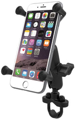 RAM-B-149Z-UN10U RAM Handlebar Rail Mount with Zinc Coated U-Bolt Base & Universal X-Grip® IV Large Phone/Phablet Holder