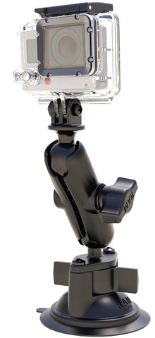 RAM-B-166-GOP1 RAM Twist Lock Suction Cup Mount with Custom GoPro® Hero Adapter