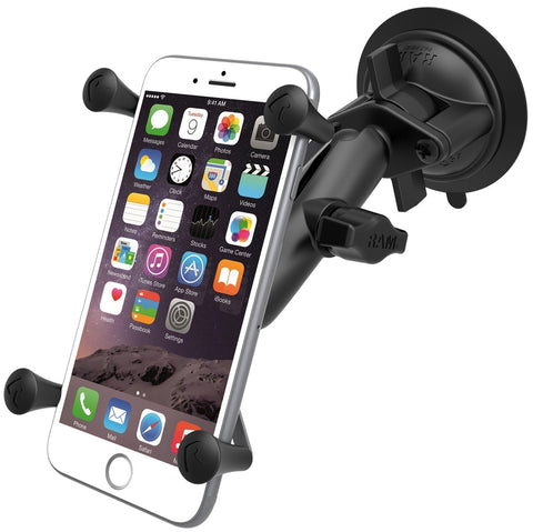RAM-B-166-UN10U RAM Twist Lock Suction Cup Mount with Universal X-Grip® IV Large Phone/Phablet Holder