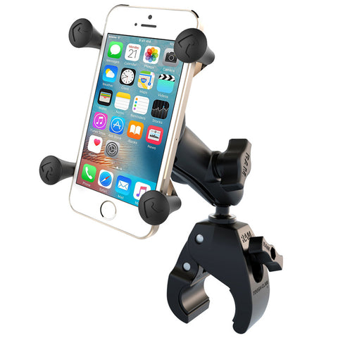 RAM-B-400-HOL-UN7BU | RAM Small Tough-Claw™ Base with Double Socket Arm and Universal X-Grip® Cell/iPhone Cradle