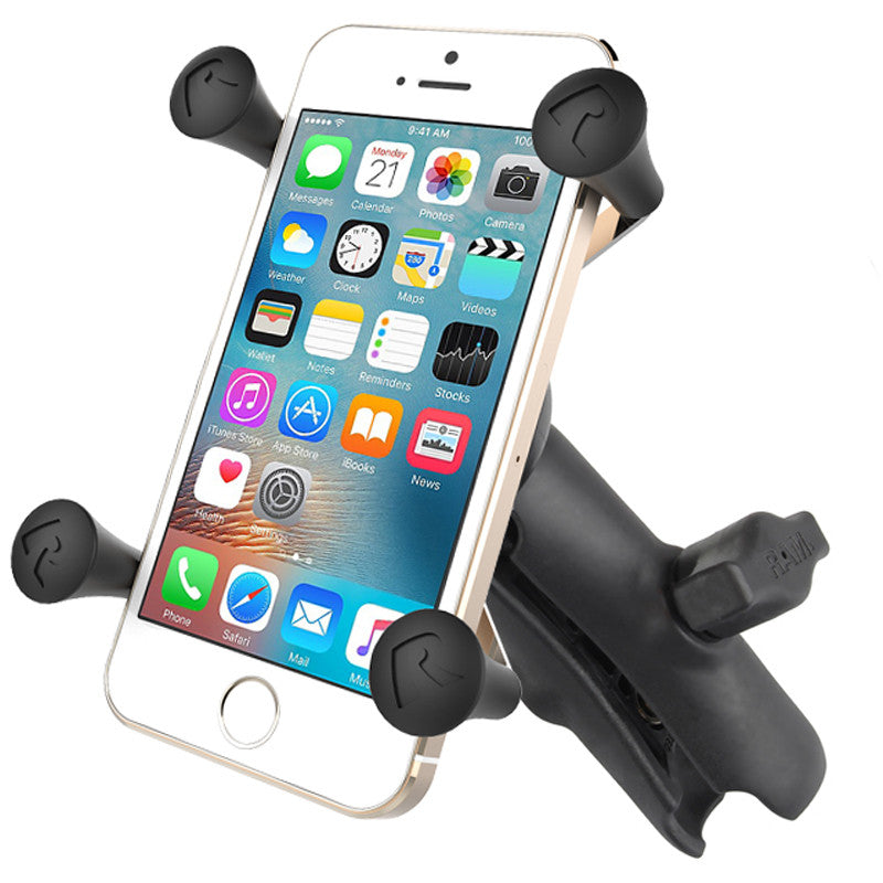 RAP-HOL-UN7B-201U | RAM Universal X-Grip® Cell Phone Cradle with Double Socket Arm