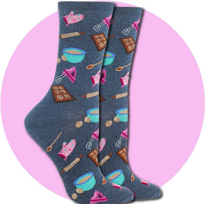 women's socks - baking