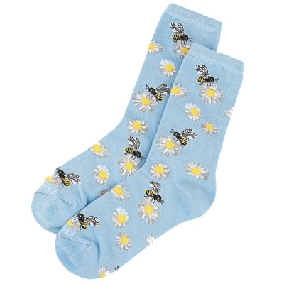 women's socks - daisy bees