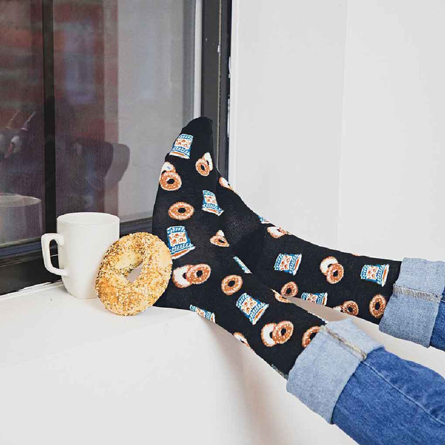 men's socks - bagel shop