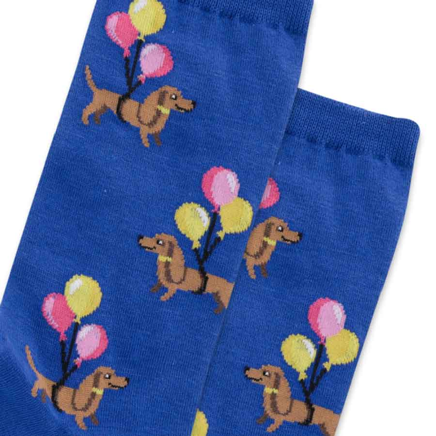 women's socks - Balloon Dachshunds
