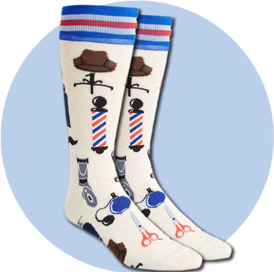 men's socks - barber shop