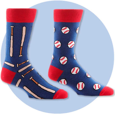 men's socks - Bats and Ball