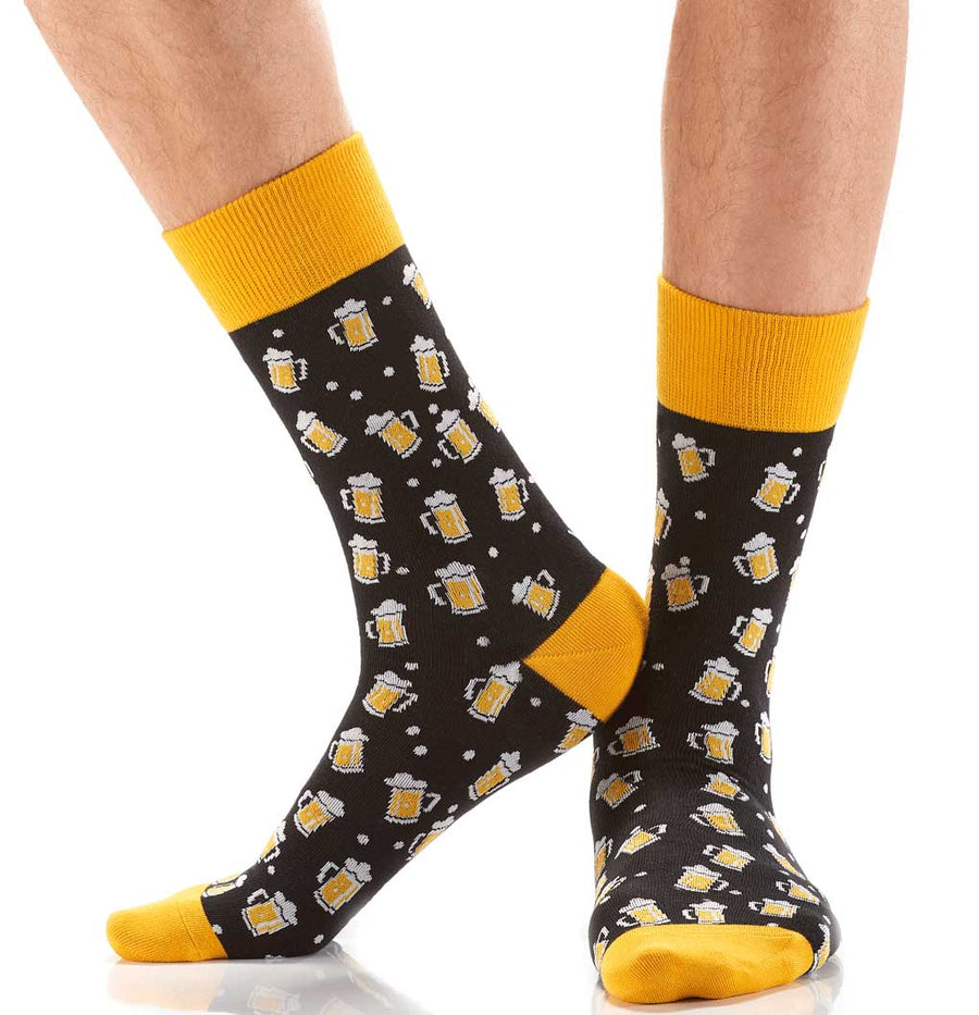 men's socks - beer steins