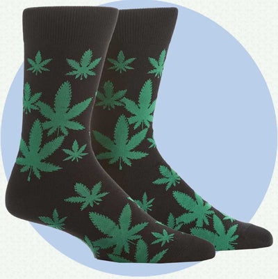 men's socks - happy leaf