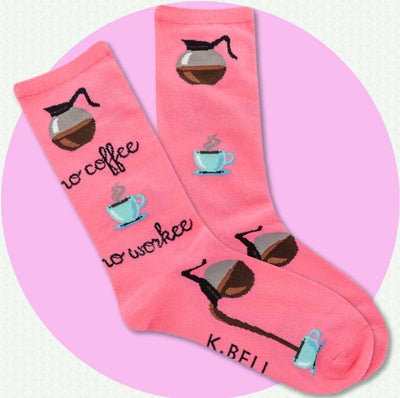 women's socks- coffee