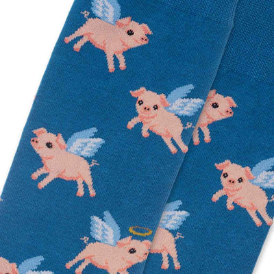 men's socks - Flying Pigs