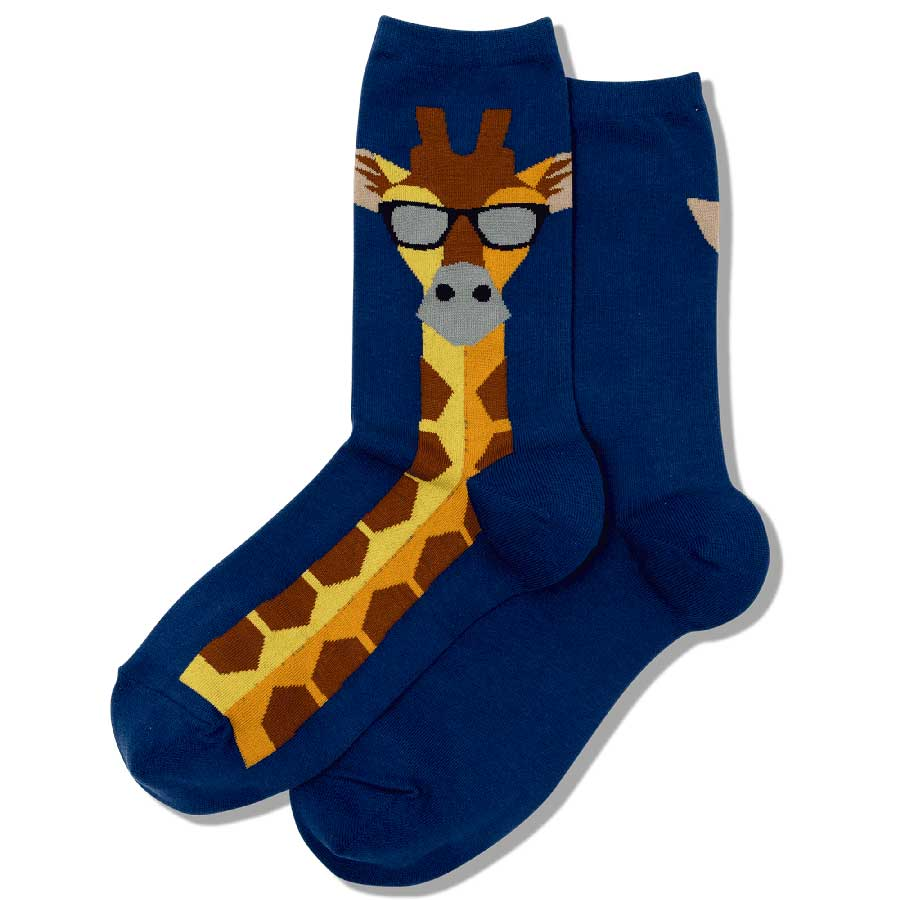 Blue Giraffe with Glasses