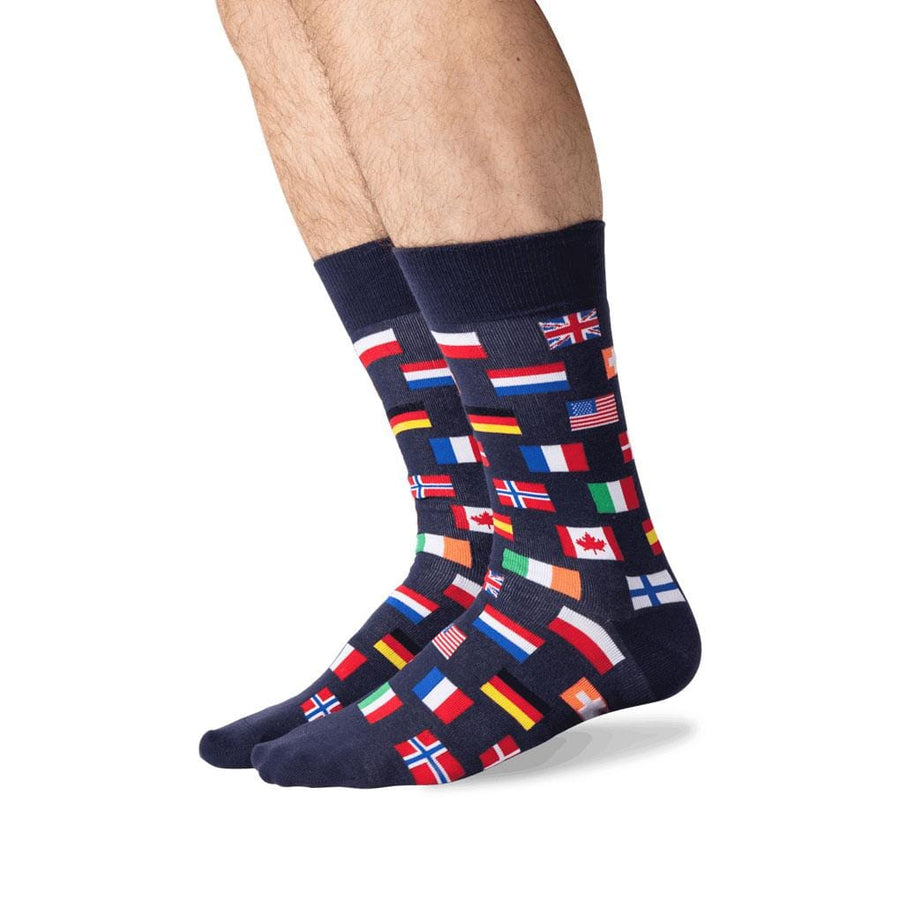 Men's Socks - Flags