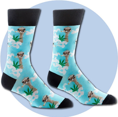 Men's Socks - Fly Ostrich