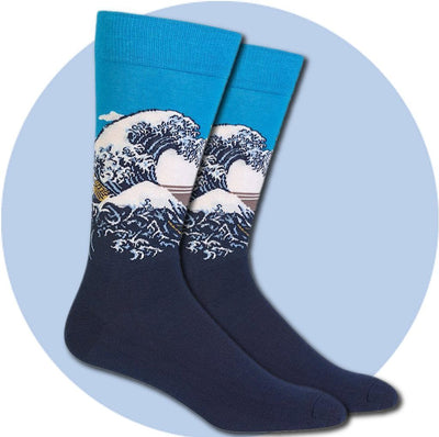 Men's Socks - Great Wave