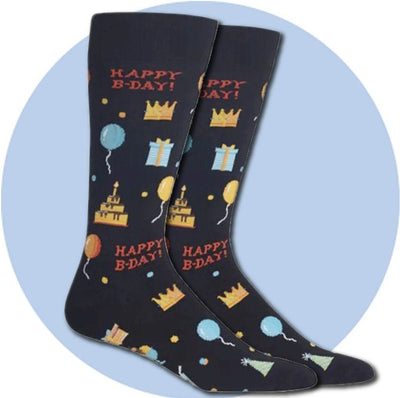Men's Socks - Happy Birthday!