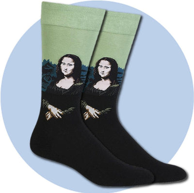 Men's Socks - Mona Lisa