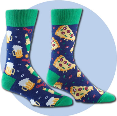 Men's Socks - Pizza And Beer