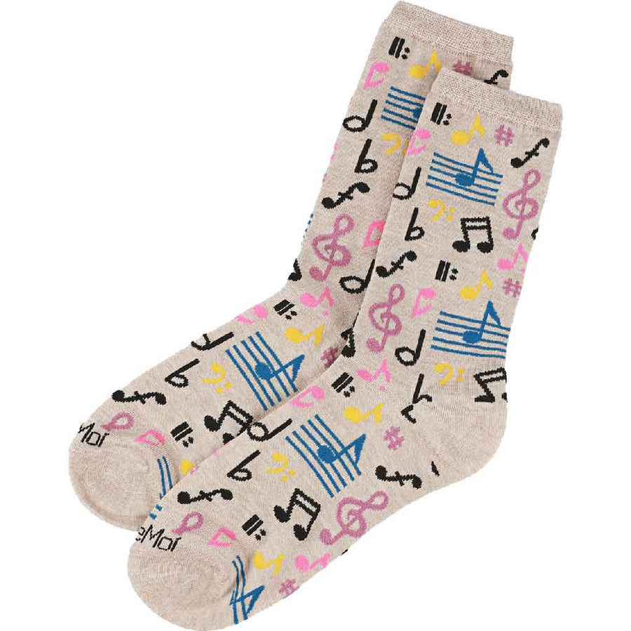 women's socks - musical notes