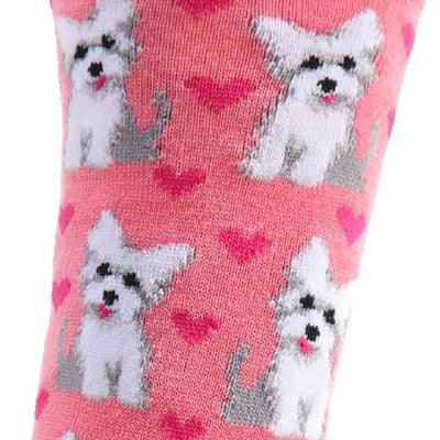 women's socks - puppy love