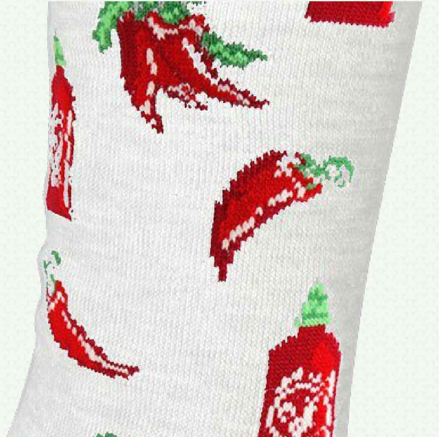 women's socks - sriracha