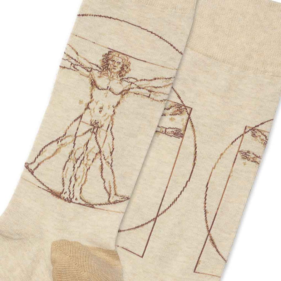men's socks - Vitruvian Man
