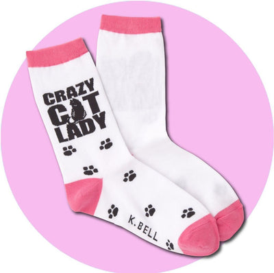 Women's Socks - Crazy Cat Lady