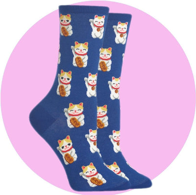 Women's Socks - Lucky Cat
