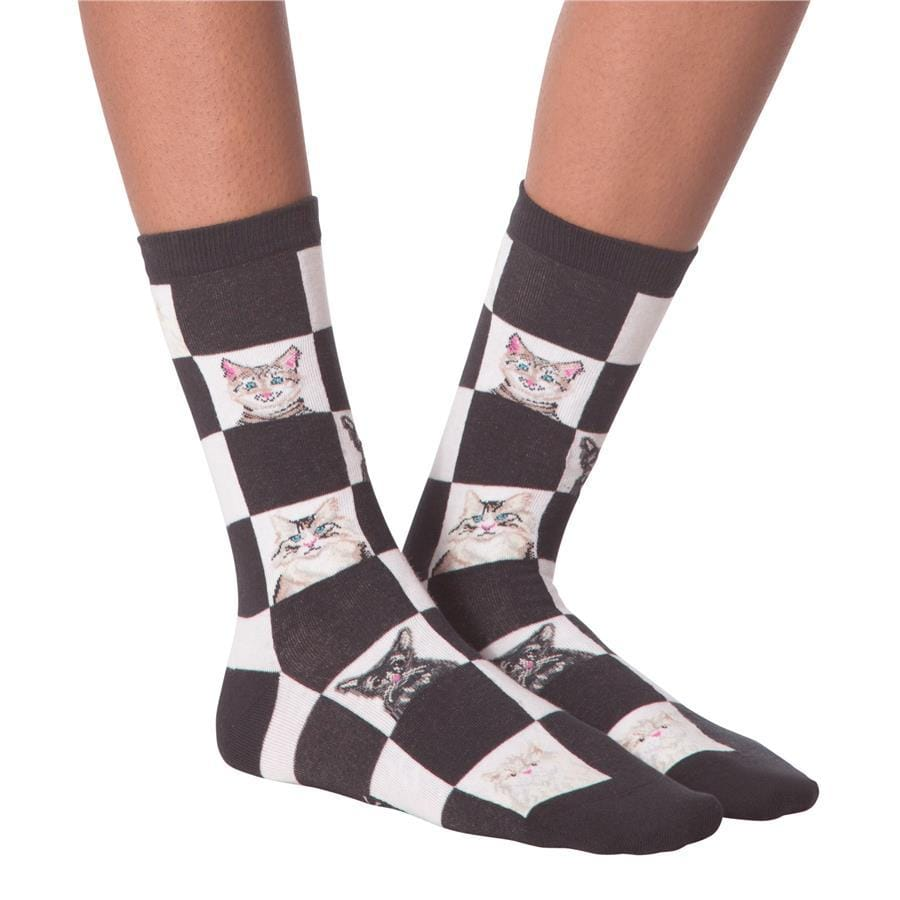 Women's Socks - Retro Cats