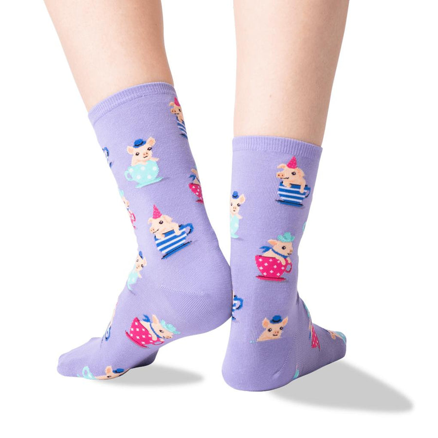 Women's Socks - Tea Cup Pigs