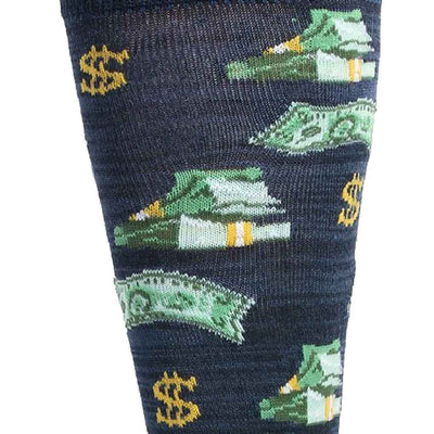 men's socks - money bags