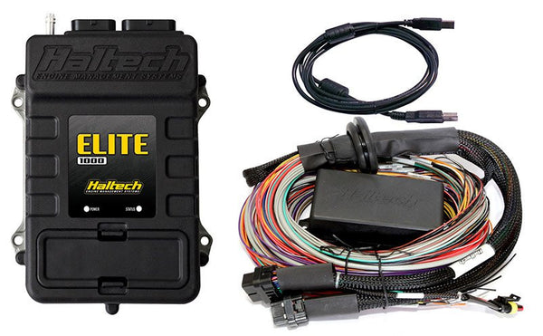 Elite 1000 ECU + 2.5m (8 ft) Premium Universal Wire‐in Harness Kit