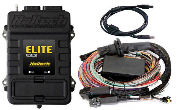 Elite 2000 ECU + 2.5m (8 ft) Premium Universal Wire‐in Harness Kit