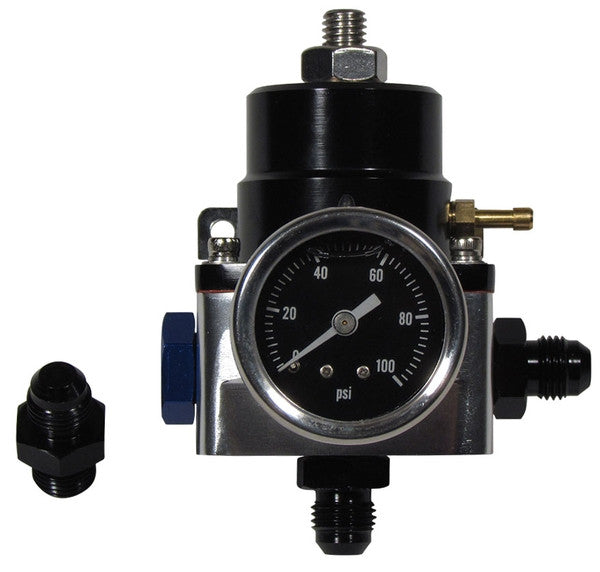 Adjustable Fuel Pressure Regulator with Gauge and -6AN fittings