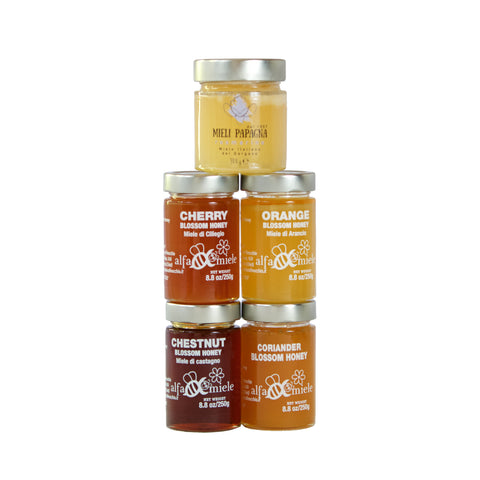 Honey  - Italian Monofloral Honey Bundle - 5 Award winning jars