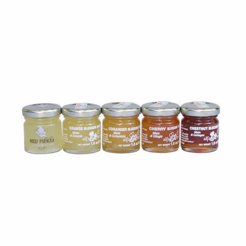 5 Italian Honey Tasting Set