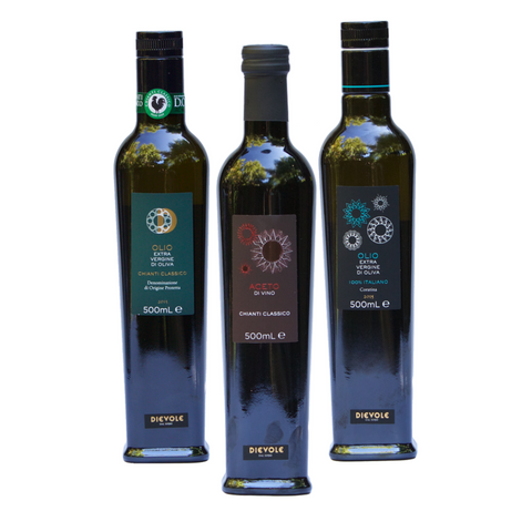 Dievole - Extra Virgin Olive Oil & Vinegar Bundle (Nocellara, Coratina, Chianti Red Wine Vinegar)