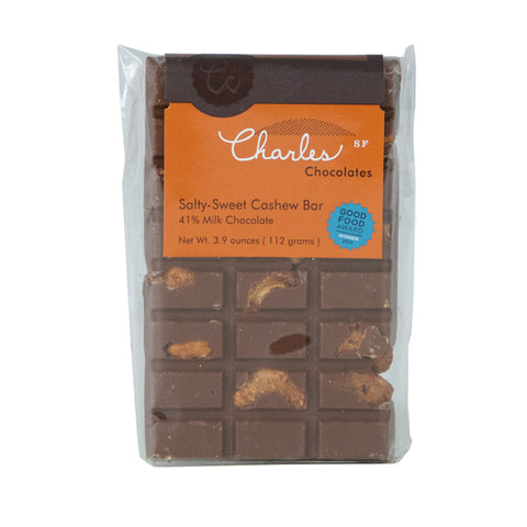 Charles Chocolate - Salty Sweet Cashew Bar