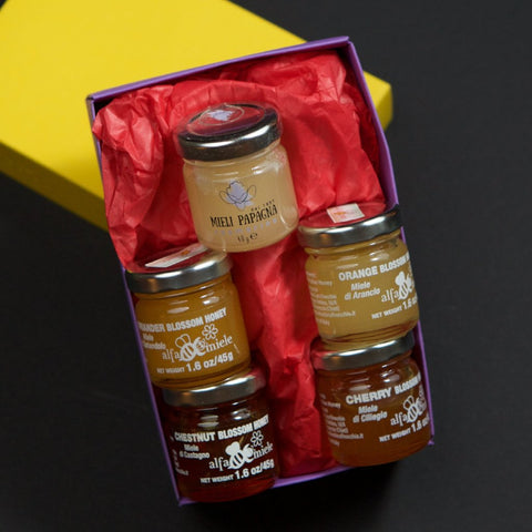 Honey  - Award Winning Italian Monofloral  Italian Honey Tasting Set - 5 Piece